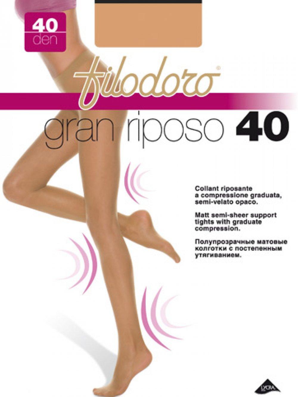 GRAN RIPOSO 40 DEN COLLANT RIPOSANTE A COMPRESSIONE GRADUATA FILODORO
