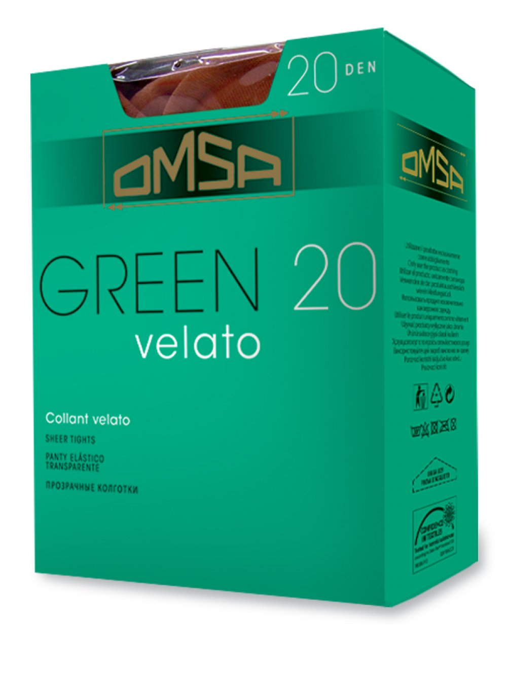 GREEN COLLANT 20 DEN VELATO OMSA